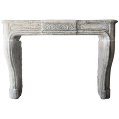 French Antique Fireplace of Limestone