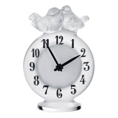 Lalique Antoinette Clock Clear Crystal