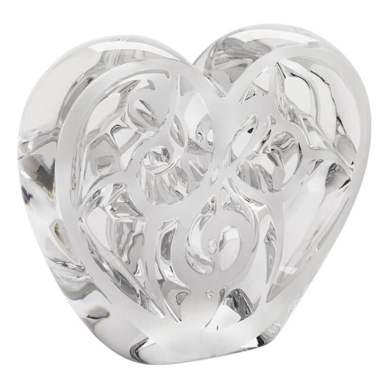 Lalique 'Music Is Love' Heart Clear Crystal Limited Edition 999