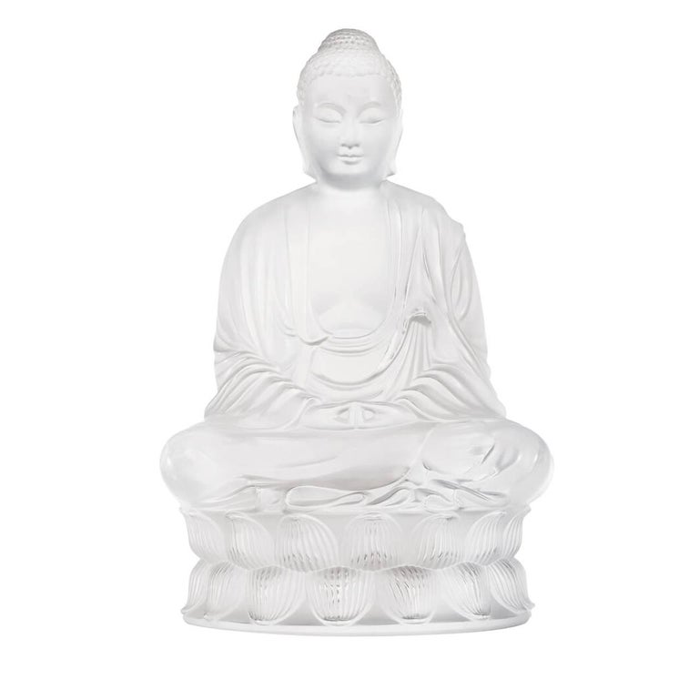 Lalique Buddha Figure Small Clear Crystal