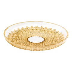 Lalique Rayons Bowl in Gold Luster Crystal