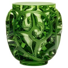 Lalique Tourbillons Vase Light Green Crystal Ltd Ed 999