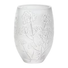 Lalique Medium Ombelles Vase in Clear Crystal