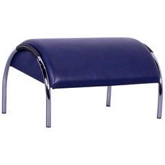 COR Zyklus Designer Foot-Stool Purple Blue Leather