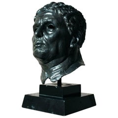 Large 20th Century Bronze Portrait Bust of a Roman Republican