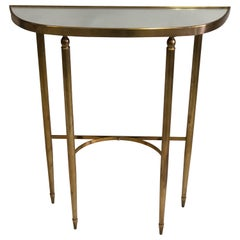 Italian Mid-Century Modern Neoclassical Brass Console by Guglielmo Ulrich, 1948