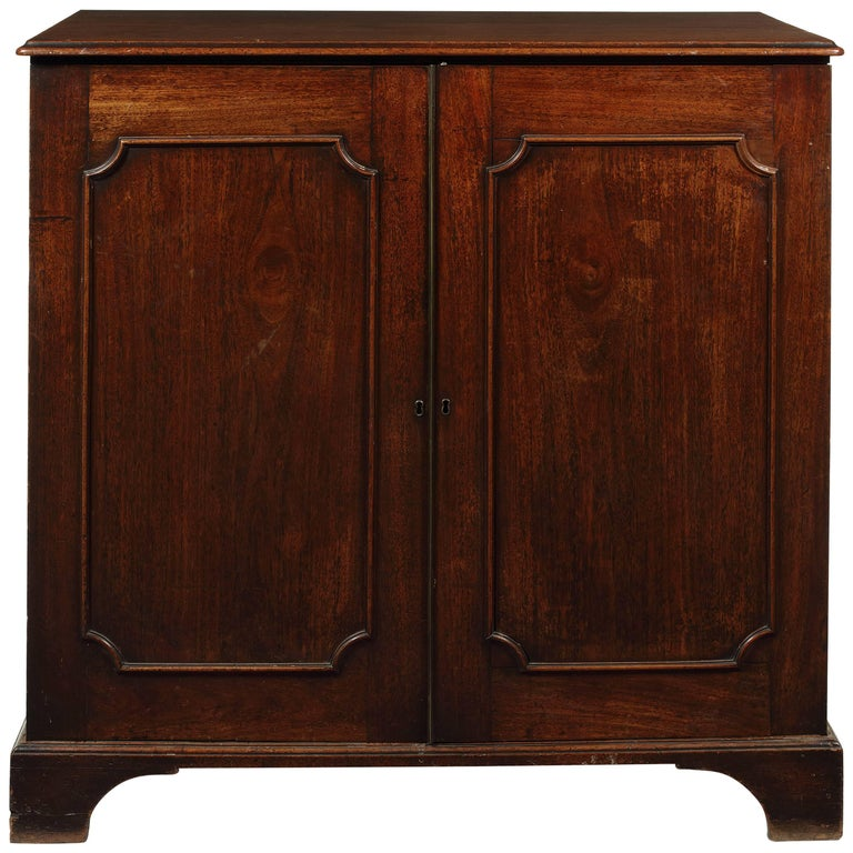 George III Mahogany Low Press Cupboard