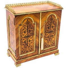 19th Century French Kingwood Tabletop Jewelry Collectors Cabinet