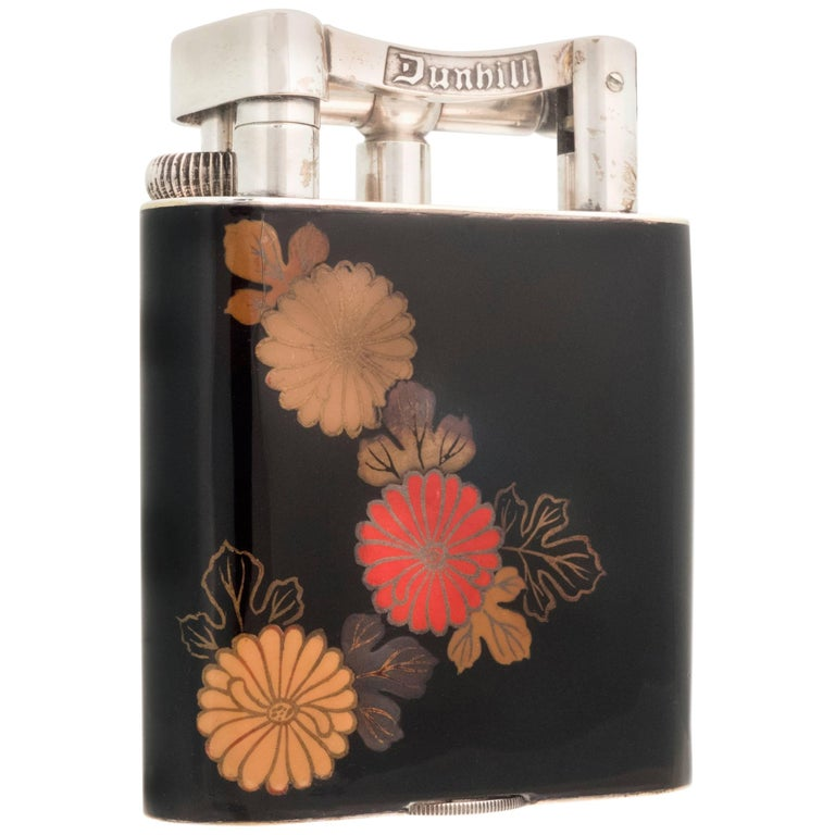 Alfred Dunhill 'Namiki' Enamel Table Lighter, 1930s