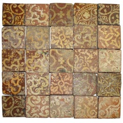 16th Century French Terracotta Tiles