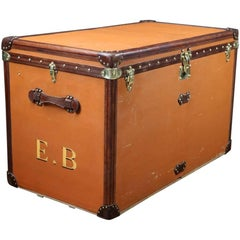 1930s Huge Louis Vuitton Orange Steamer Trunk