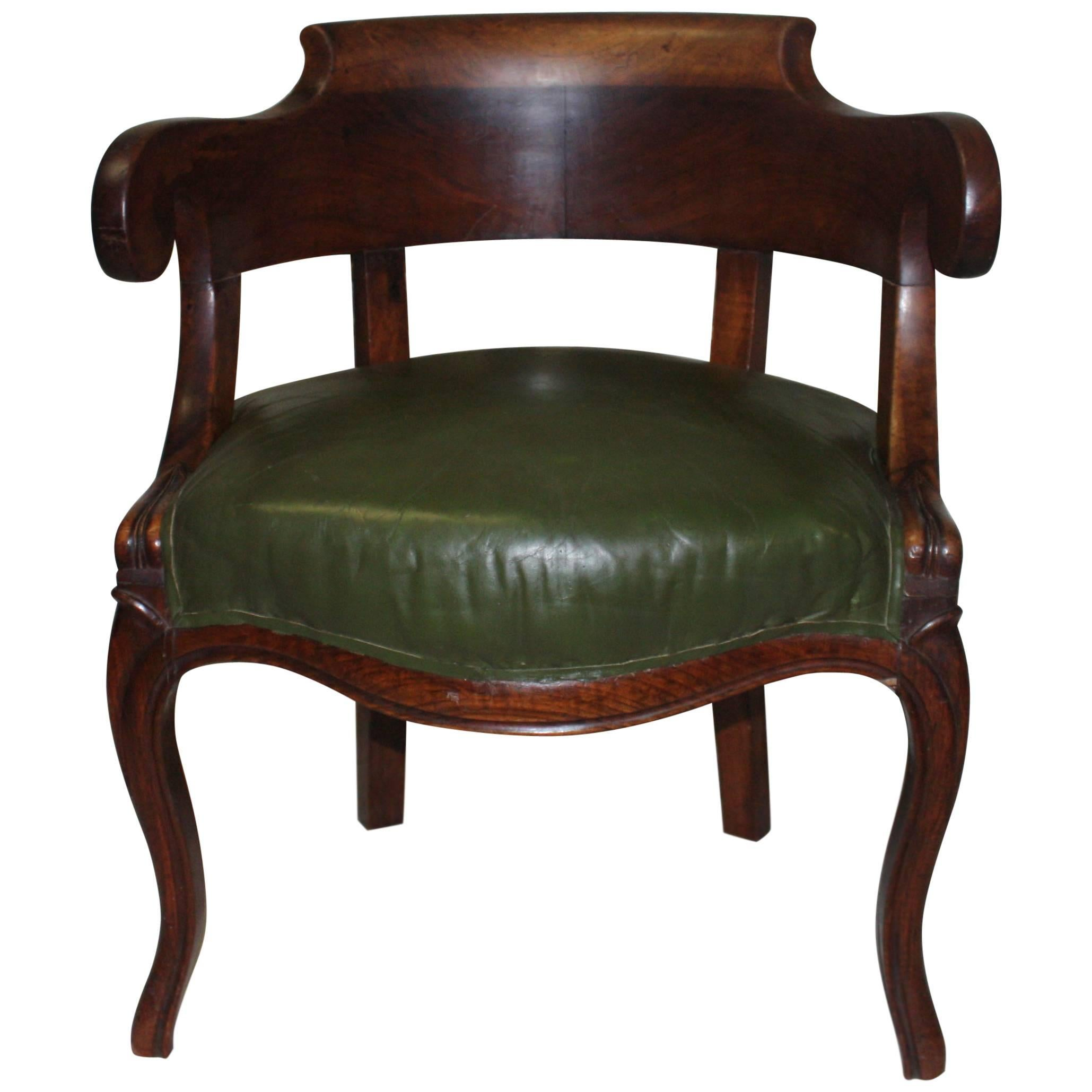 1940S Art Deco Desk Chair From French Governmental Institute For