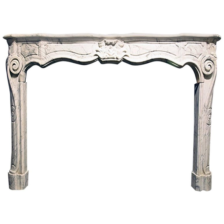 Exclusive Antique Marble Fireplace Louis XV Mantel 19th Century