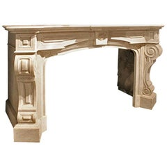 Exclusive Antique Dutch Fireplace Mantel from the 19th Century