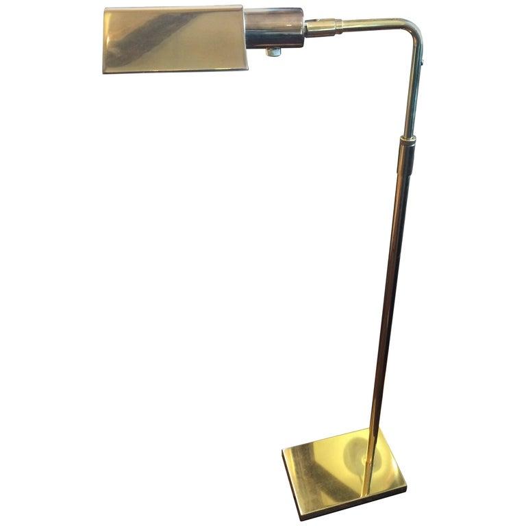 Vintage Koch & Lowy Brass Reading Floor Lamp