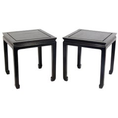 Pair of Asian Influenced End Tables or Nightstands