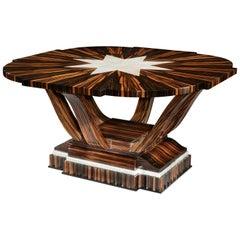 Macassar Art Deco Table with Shagreen, 1930