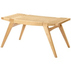 Contemporary pi2 Stool, Oak Frame with Clear, Matt Oil-Finish, Danish Cord Seat