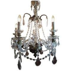 Rococo Style French Chandelier with Gilt Bronze, 19th Century