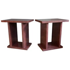 Faux Porphyry Side Tables