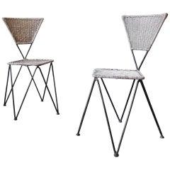 1950 Rare Pair of Garden Chairs from Karl Fostel Senior Erben