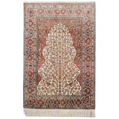 Hereke Silk Rugs with Traditional Rug Design, Complementing Most Home Decor