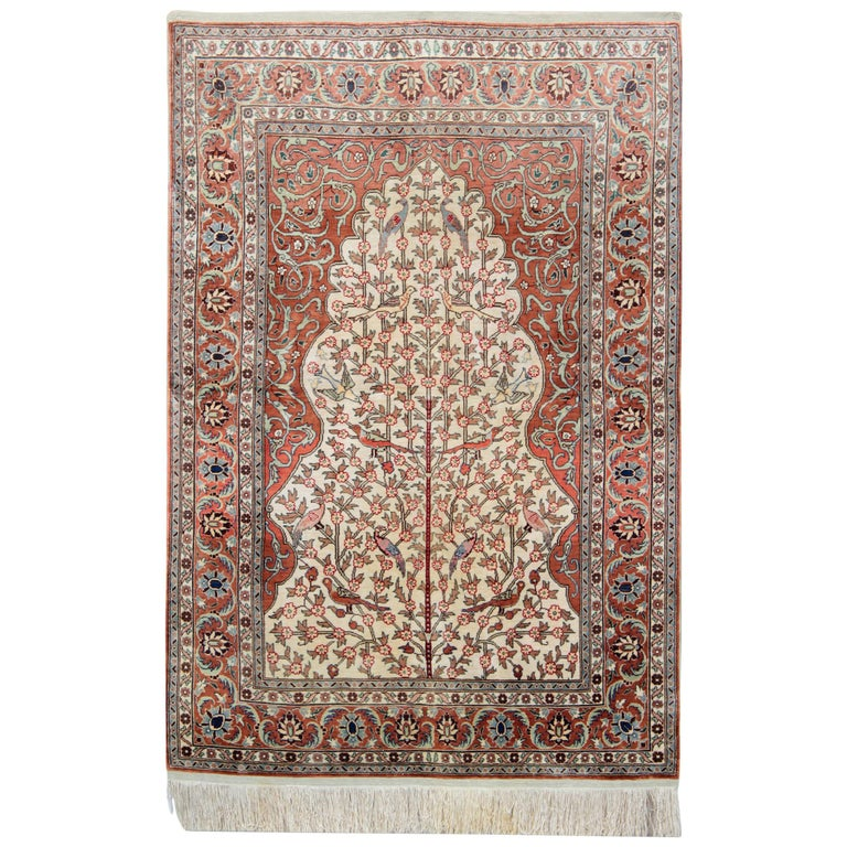 Hereke Silk Rugs With Traditional Rug Design Complementing Most Home Decor For