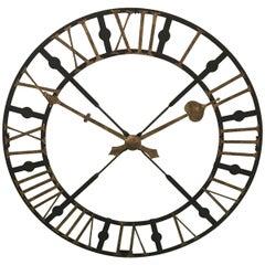 Large Wrought Iron Clock Face