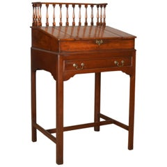 Antique Clerks Writing Desk, English, Victorian, Mahogany Tall Bureau circa 1870