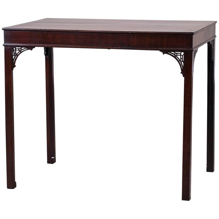 Antique English Chippendale Style Mahogany Table, circa 1790