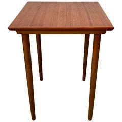 Small Mid-Century Modern Tapered Leg Teak Side Table, Denmark