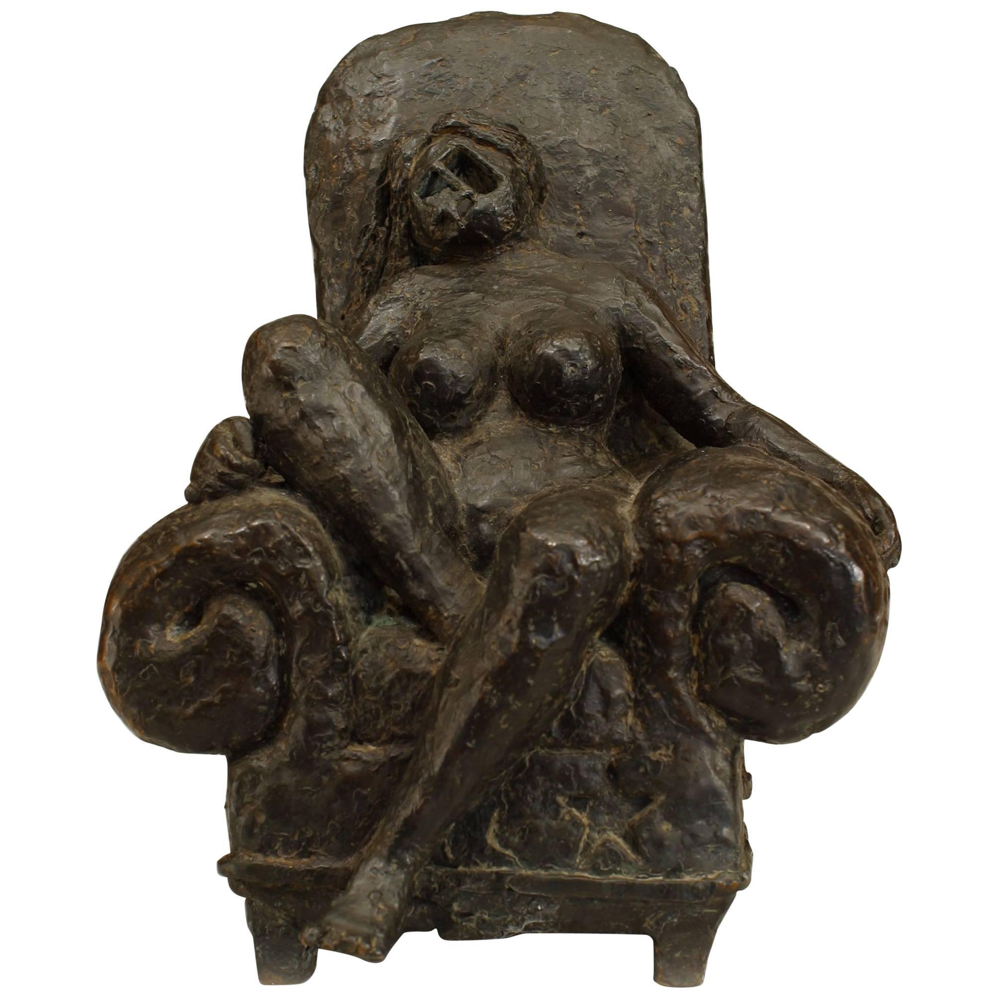 Post-War Abstract Bronze Statue