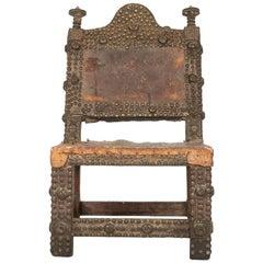 Antique Ashanti Chief's Chair from Ghana