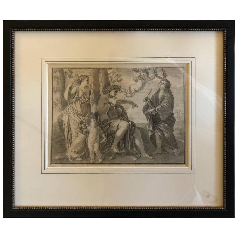 Neoclassical French 18th Century Drawing