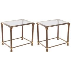 Glass and Brass End Tables
