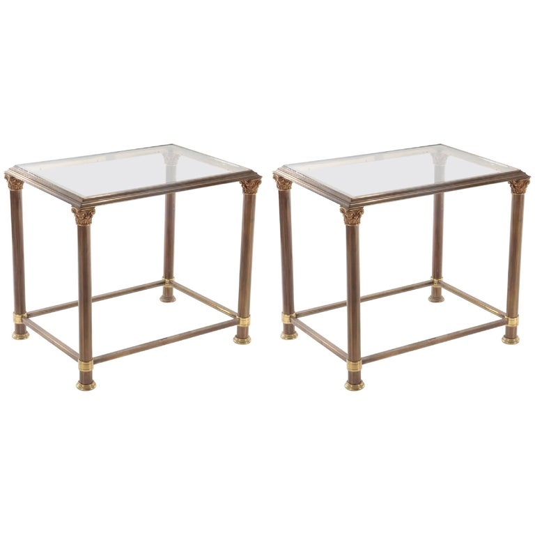 Glass And Brass End Tables For Sale At 1stdibs