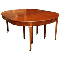 19th Century Directoire Mahogany Dining Table
