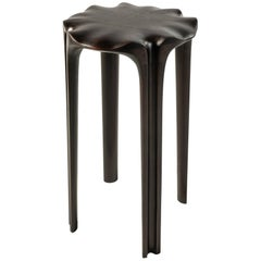 "Hand-Carved Wooden ""Pavilion"" Stool by Christopher Kurtz"