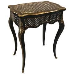 Antique French Napoleon III Inlaid Table Vanity