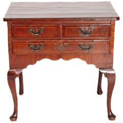 Early 19th Century English Lowboy of Walnut / Queen Anne-Style