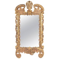 Period George III Pier Glass with Carved and Gilded Frame