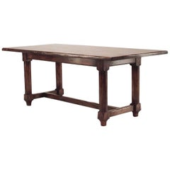 English Renaissance Style 20th Century Oak Refectory Table