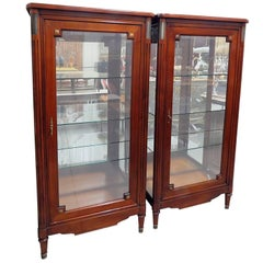 Pair of Jansen Style Display Cabinets