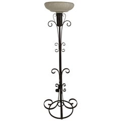 1940s Wrought Iron Floor Lamp