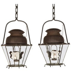 French 18th Century Style Copper Lanterns from the Original French Blueprints