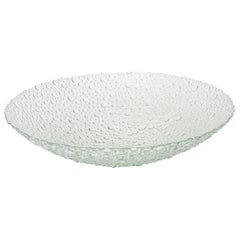 Scandinavian Textural and Sculptural Vintage Bubble Glass Bowl