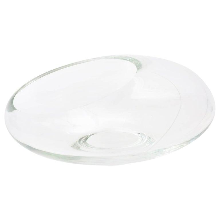 Italian Murano Seguso Glass Sculptural Asymmetrical Bowl/ Vase / Centrepiece