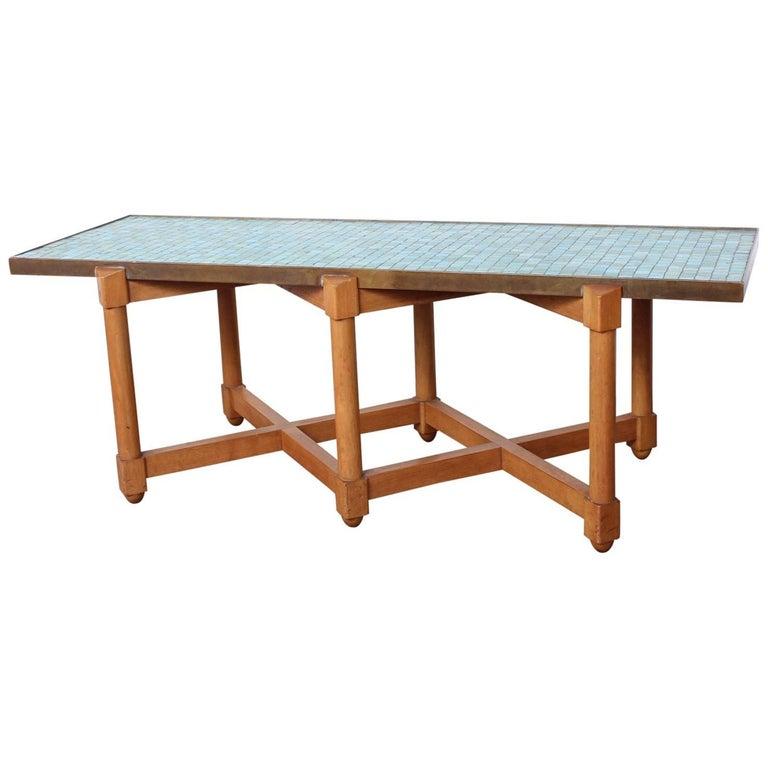 Dunbar Tile Top Table by Edward Wormley