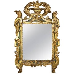 18th Century French Period Louis XVI Giltwood Mirror with Original Mirror Plate