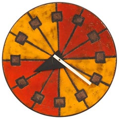 "Bitossi & George Nelson ""Meridian"" Ceramic Clock for Howard Miller & Raymor"